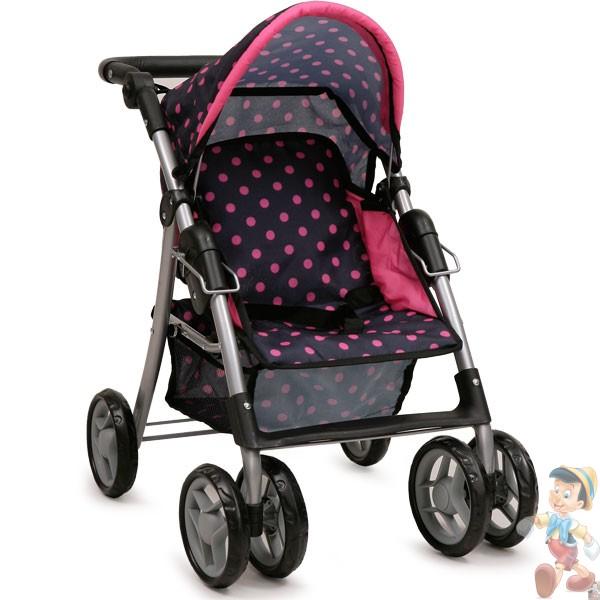 Детска количка за кукли Pinky dots