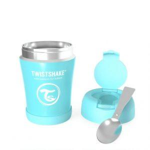 Детски контейнер за храна от неръждаема стомана син