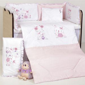 Бродерия Зайчета розови